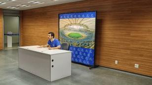 Raum für die Pressekonferenzen