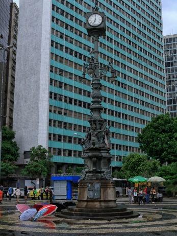 Historische Uhr am Carioca-Platz