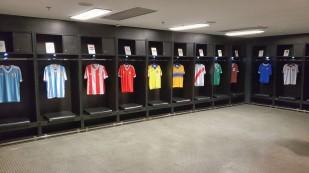 Umkleideräume der Fußballer