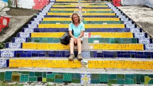 Über 200 Stufen mit Keramikfliesen...