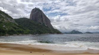 Zuckerhut vom Strand Praia Vermelha aus