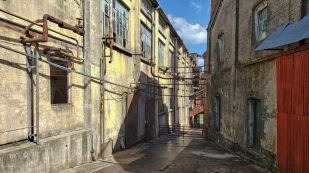 Die alten Fabrikgebäude...